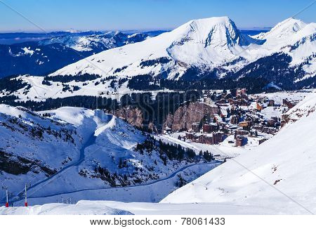 Ski slopes leading to Avoriaz