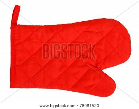 Red Heat Protective Mitten