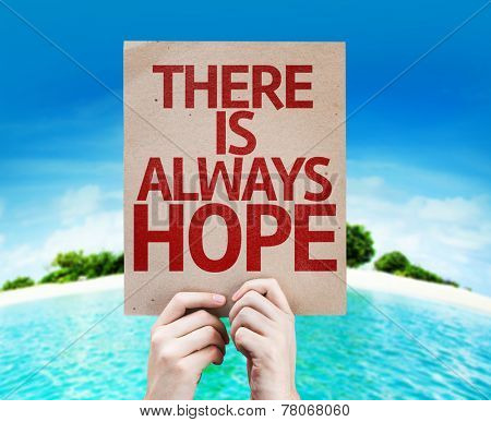 There Is Always Hope card with a beach on background