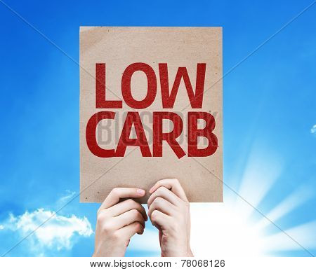 Low Carb card with sky background