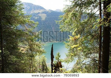 View on the Lake Haldensee in Tyrol