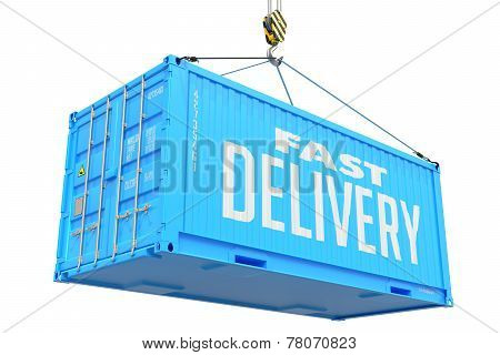 Fast Delivery - Blue Hanging Cargo Container.