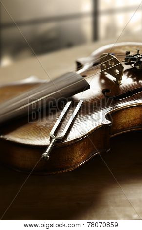 Violin And Tuning Fork