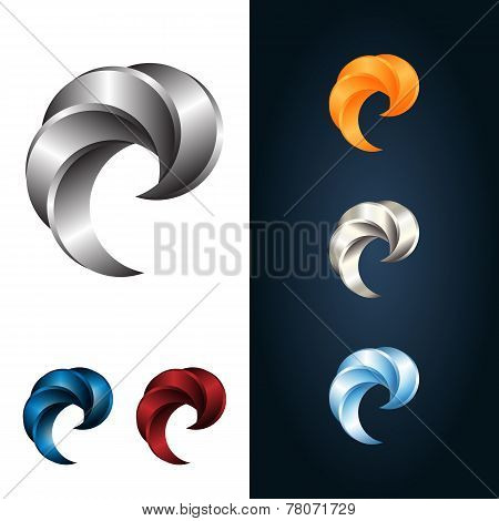 Logo Or Emblem Template. Metal Claw. Vector Icon