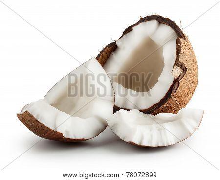 Broken Raw Ripe Coconut