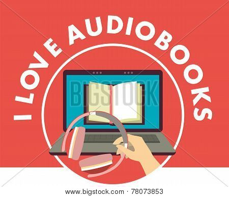I love audiobooks concept