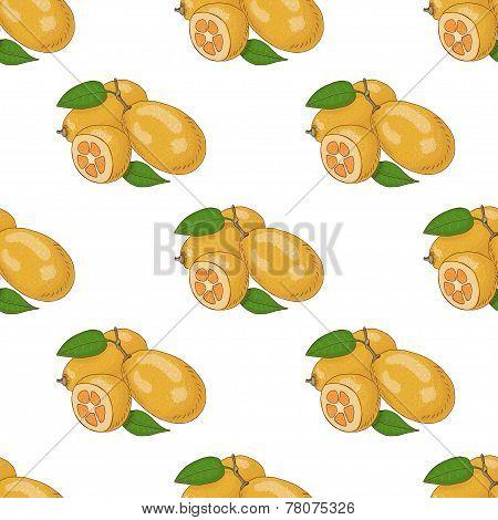 Seamless Pattern With Kumquat
