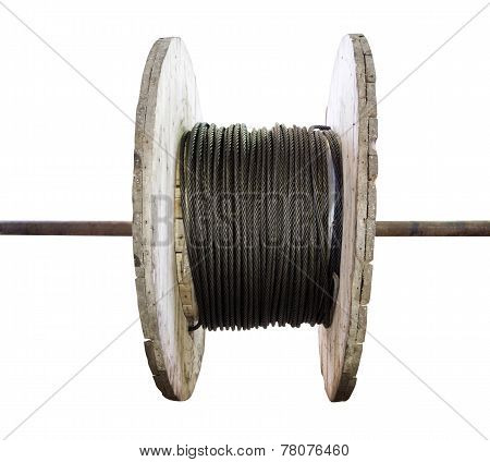 Industrial Wooden Reel With Steel Wire Rope