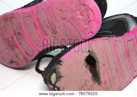 Child worn shoes