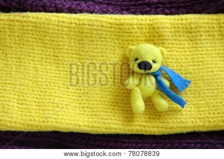 Little Wool Toy Yellow Bear