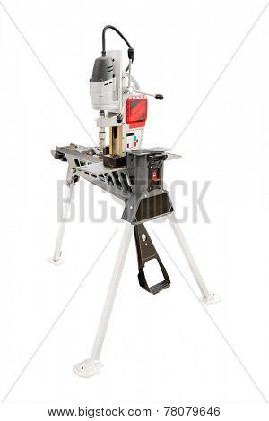 image of a driller isolated under the white background