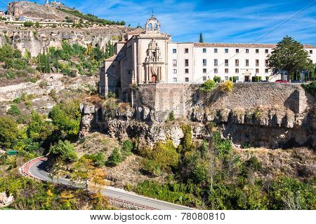 Parador Nacional Of Cuenca In Castille La Mancha, Spain.