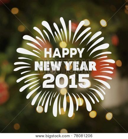 Digitally generated Happy new year vector with text