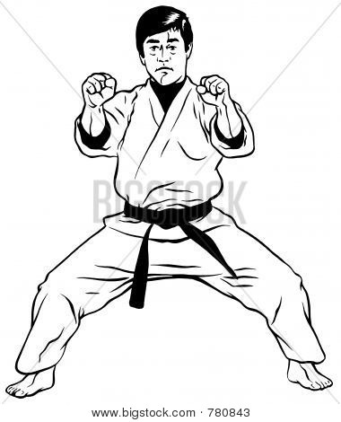 Defensive Stance (Karate001)