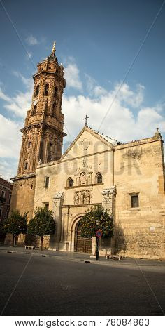 church and tower in antequera