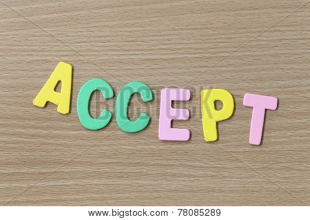 Accept Of Colorful Text.
