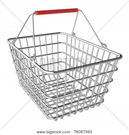 Vector Empty Shopping Basket