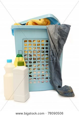 Washing Basket With Detergent