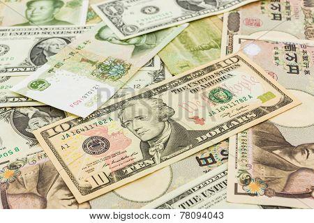 World Banknotes Background.