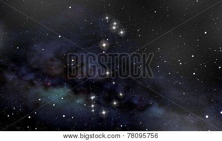 Scorpion Constellation In The Night Sky