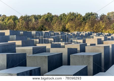 Holocaust Memorial In Berlin, Germany.