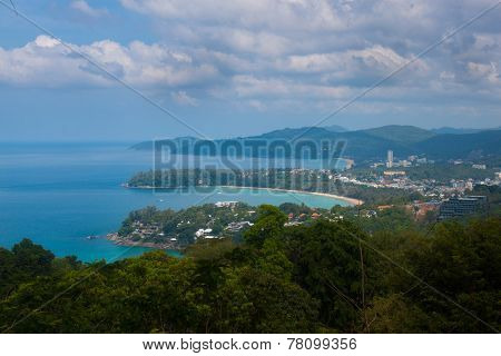 Karon Viewpoint On Island Of Phuket, Thailand