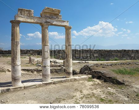 Columns And Ruins Of Ancient Artemis Temple
