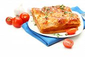 pic of lasagna  - Portion of tasty lasagna - JPG