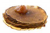 Pancake With Jam On White