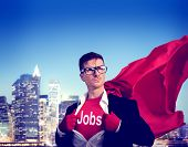 stock photo of superhero  - Jobs Strong Superhero Success Professional Empowerment Stock Concept - JPG
