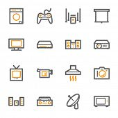 foto of home theater  - Home Appliance web icons set - JPG