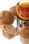 Muffin With Tea Macro
