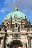 picture of dom  - Berlin Germany. Capital city architecture - Berlin Cathedral (Berliner Dom) renaissance style landmark. ** Note: Soft Focus at 100%, best at smaller sizes - JPG