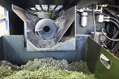 picture of auger  - auger and metal turnings from lathe machine close up - JPG