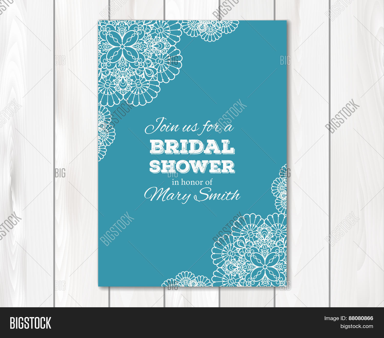 Bridal shower or wedding invitation, card template Stock Vector ...