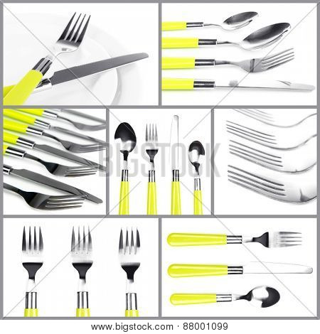 Cutlery collage