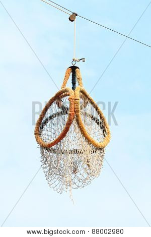 Outdoor takraw hoop