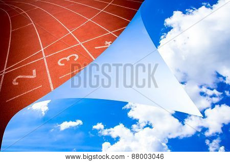 Abstract Open Sky Running Track Rubber