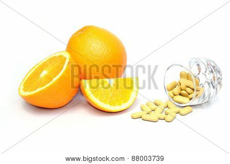 navel orange and vitamin c