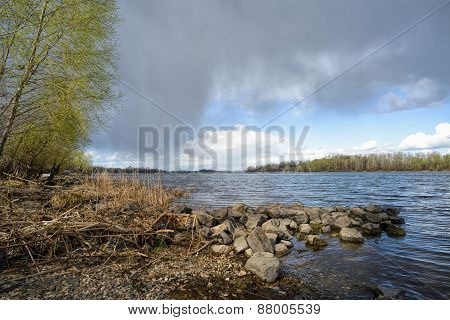 Spring Storm Over The River