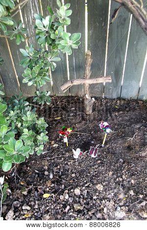 a pet's grave