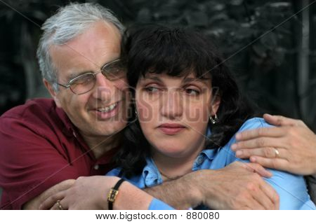 Mature Couple Embrace