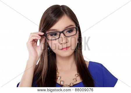 Beautiful Girl On Glasses