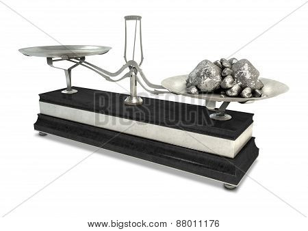 Two Pan Balance Scale And Platinum
