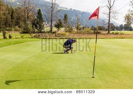 Golf Player On The Green