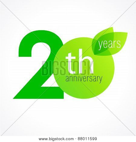 20 anniversary green logo