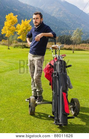 Handsome Golf Player