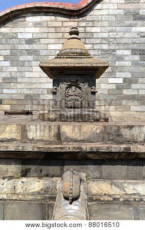 Manga Hiti Carved Public Fountain In Kathmandu, Nepal