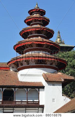 Nepali Architecture In The Royal Palace, Kathmandu