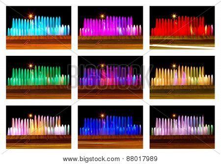 Colored fountain